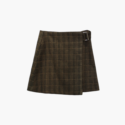 English check skirt