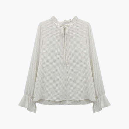 float dot blouse