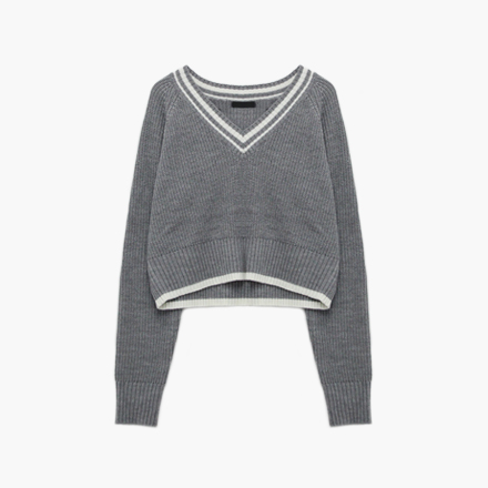 school crop knit