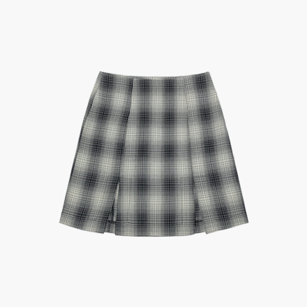 screen check skirt