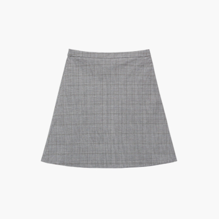 london check skirt