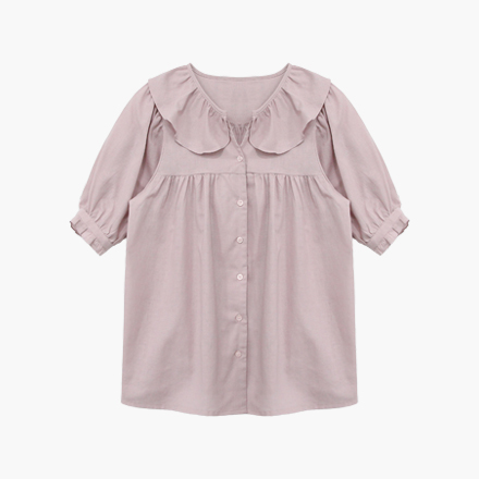 rose frill blouse